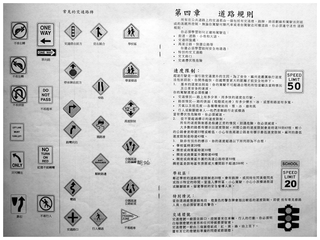 Page 11 Mass RMV drivers license manual in Chinese - www.RC123.com
