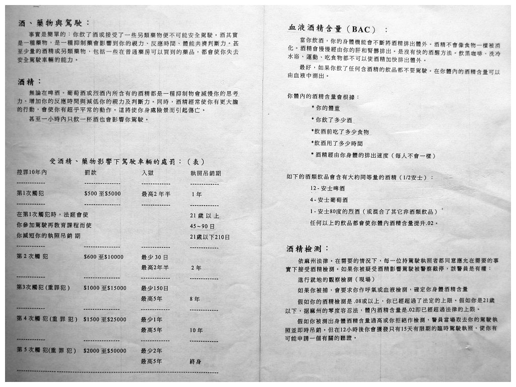 Page 9 - Massachusetts drivers license manual  in Chinese - www.RC123.com