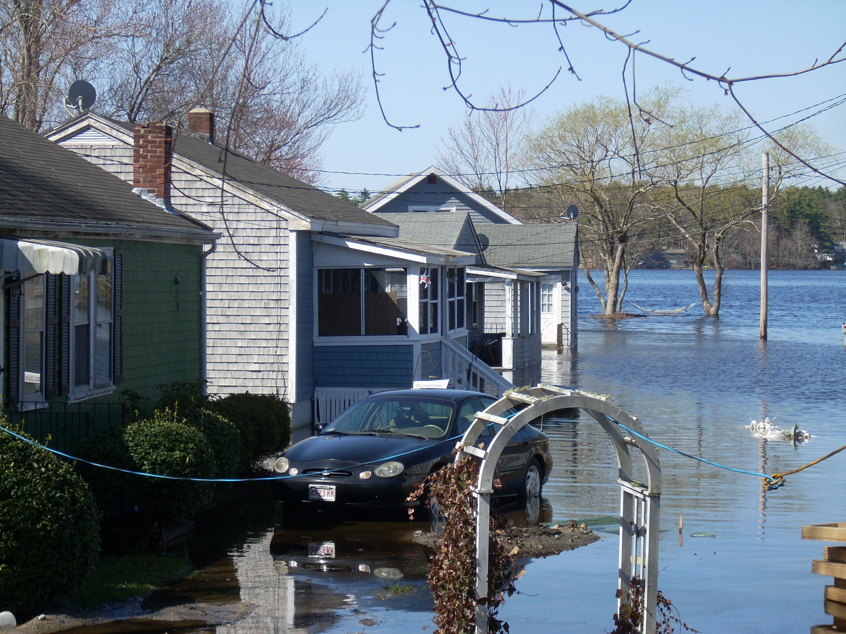 A photo of the flood in Lakeville in March in 2010 taken April 3rd