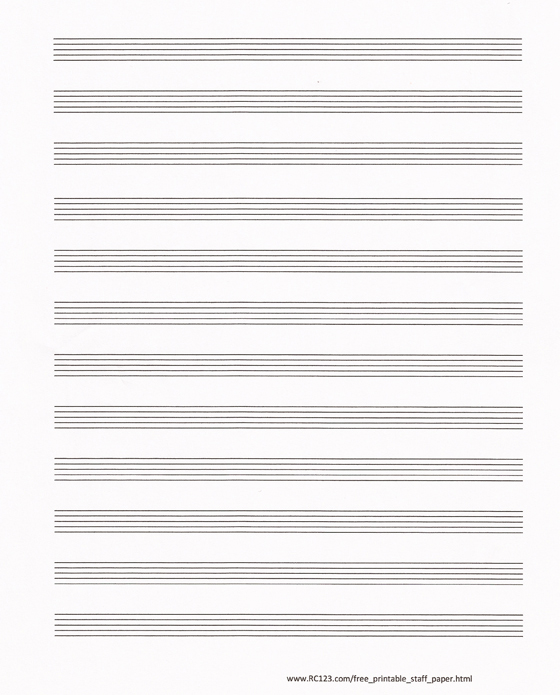 Free Printable Staff Paper Blank Sheet Music Rc123: Plain Sheet Music Free At Alzheimers-prions.com