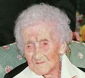 Jeanne Louise Calment 122 years and 164 days old - www.RC123.com
