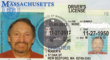 Motorcycle License - Partial view  - www.RC123.com